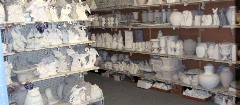 Unpainted ceramics